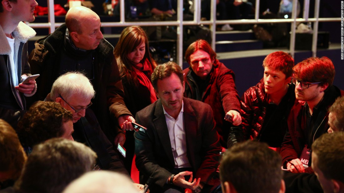 "But it was business as usual for Red Bull team principal Christian Horner, who had to face the media throng in London. ""It will be a season of two halves,"" he told CNN."