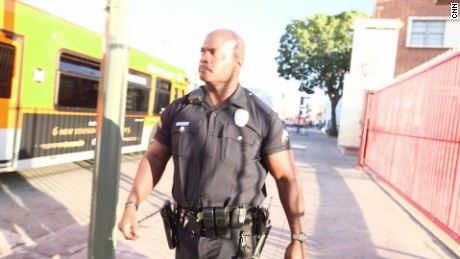 Officer Deon Joseph has been working on Skid Row for nearly 18 years.