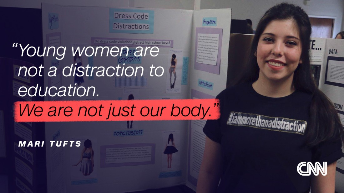 Inspired by the viral #IAmMoreThanADistraction movement, Citrus High School student Mari Tufts, 17, conducted an experiment to find out if girls' clothing is truly a distraction to their male counterparts. She'll also present her project at the Florida State Science and Engineering Fair.