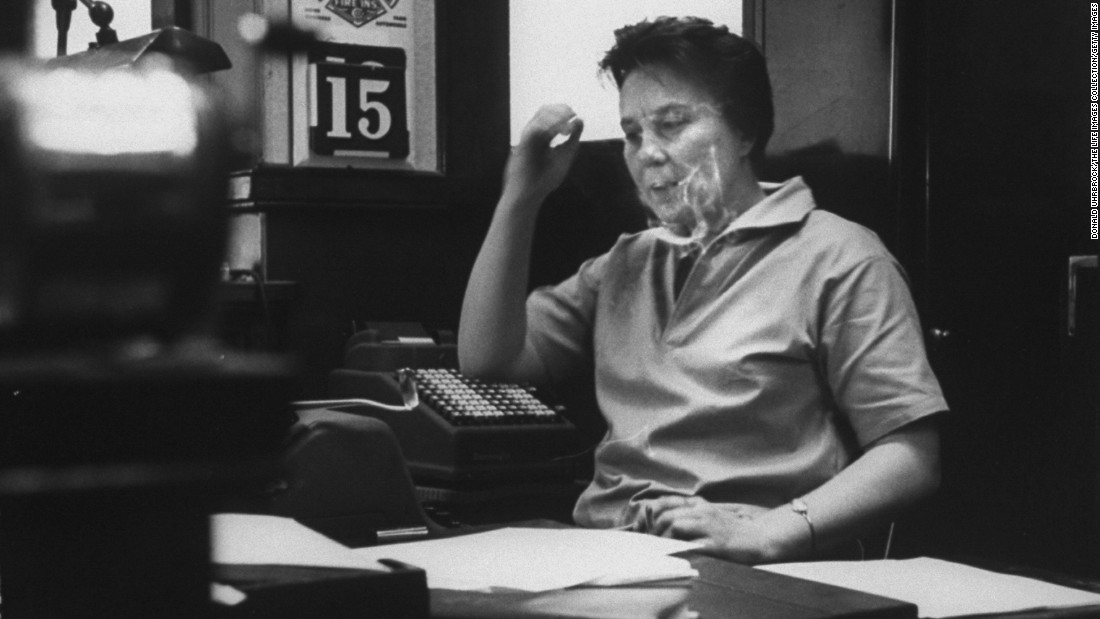 """To Kill a Mockingbird"" author Harper Lee sits in her father's law office in this undated photo. News of her death was reported on Friday, February 19. She was 89."