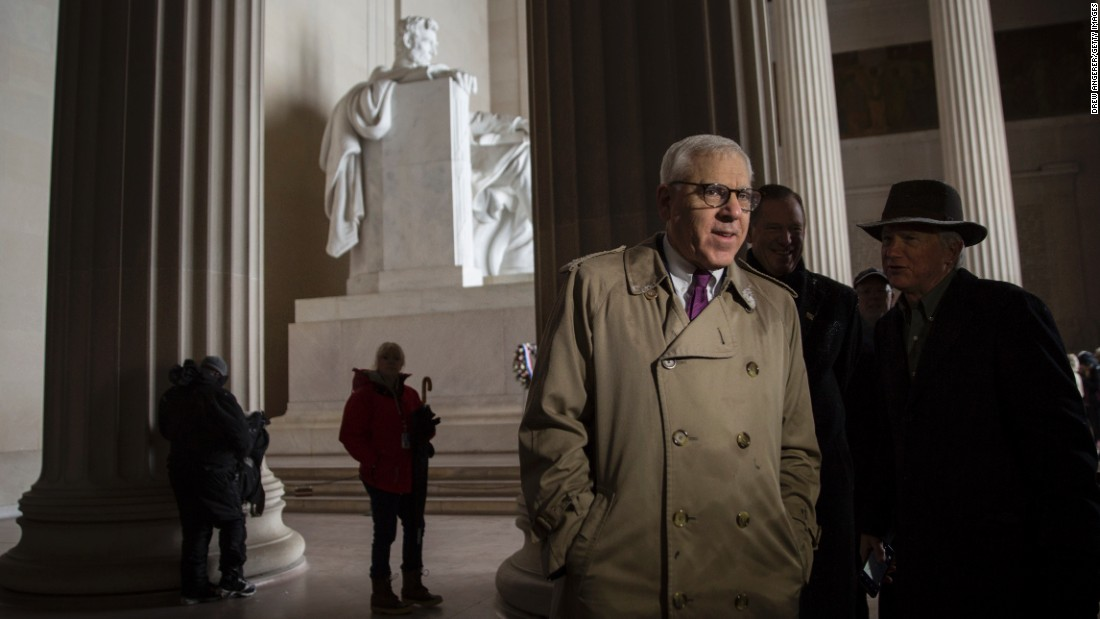 "Philanthropist David Rubenstein tours the Lincoln Memorial in Washington on Monday, February 15. The National Park Service announced that Rubenstein, who has already donated tens of millions of dollars to refurbish the Washington Monument and other icons, <a href=""http://www.cnn.com/2016/02/16/travel/lincoln-memorial-refurbishment/"" target=""_blank"">is giving $18.5 million</a> to fix up the Lincoln Memorial. The money will go to repairing damaged masonry, cleaning the memorial and conserving murals inside."