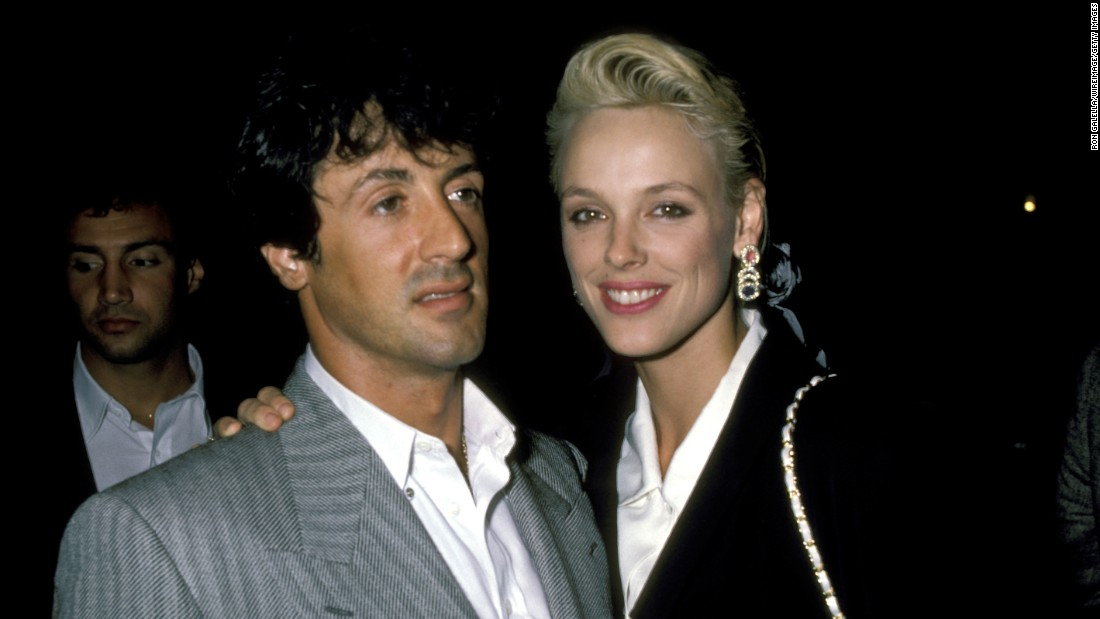 "<strong>Sylvester Stallone and Brigitte Nielsen:</strong> The pair met in 1985 and were married within a few months, when Nielsen was 22 and Stallone was 39. They had just starred in ""Rocky IV"" together. The two were married for 19 months before they divorced in 1987."