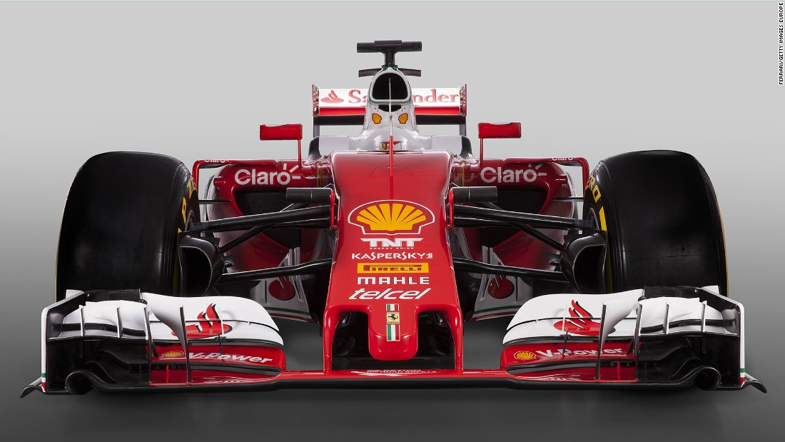 "Ferrari reveals its new-look red and white racer in an online launch beamed across the globe from Italy. Team principal Maurizio Arrivabene set his intention for 2016: ""We would like to fight for the world championship until the end."""