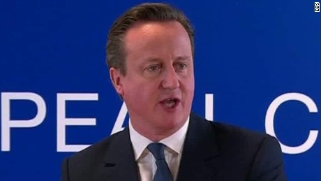 Cameron pushes for Britain to stay in EU