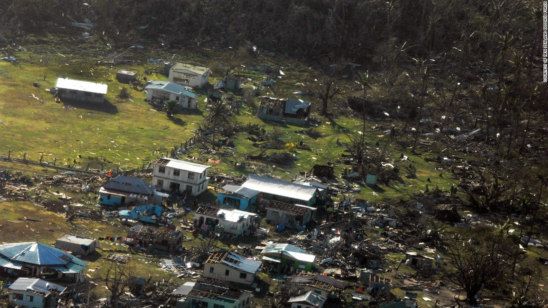 Aerial stills from the New Zealand Defence Force released on Monday, February 22, 2016 show the extensive damage inflicted by Cyclone Winston when it hit Yacata Island, Fiji on Saturday, February 20.