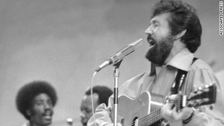 Country western star Sonny James performs at Tennessee State Prison in 1977 in Nashville.   (AP Photo)