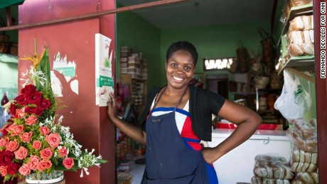 Raquel Aristilde de Valdez, a Dominican of Haitian descent, is a business owner in Santo Domingo, Dominican Republic.