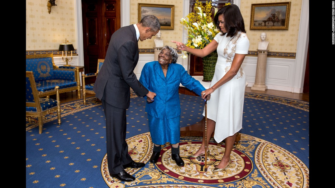 Virginia McLaurin, 106, never dreamed she would see a black man become president, let alone get to visit him in the White House. During a Black History Month celebration, McLaurin met (and danced with) President Obama and his wife. Michelle Obama, who is often associated with the term #blackgirlmagic for cultivating a strong presence alongside the President, told the centenarian she wants to be like her when she grows up.