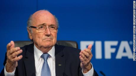 Sepp Blatter attends a press conference at the Extraordinary FIFA Executive Committee Meeting at the FIFA headquarters on July 20, 2015 in Zurich, Switzerland.