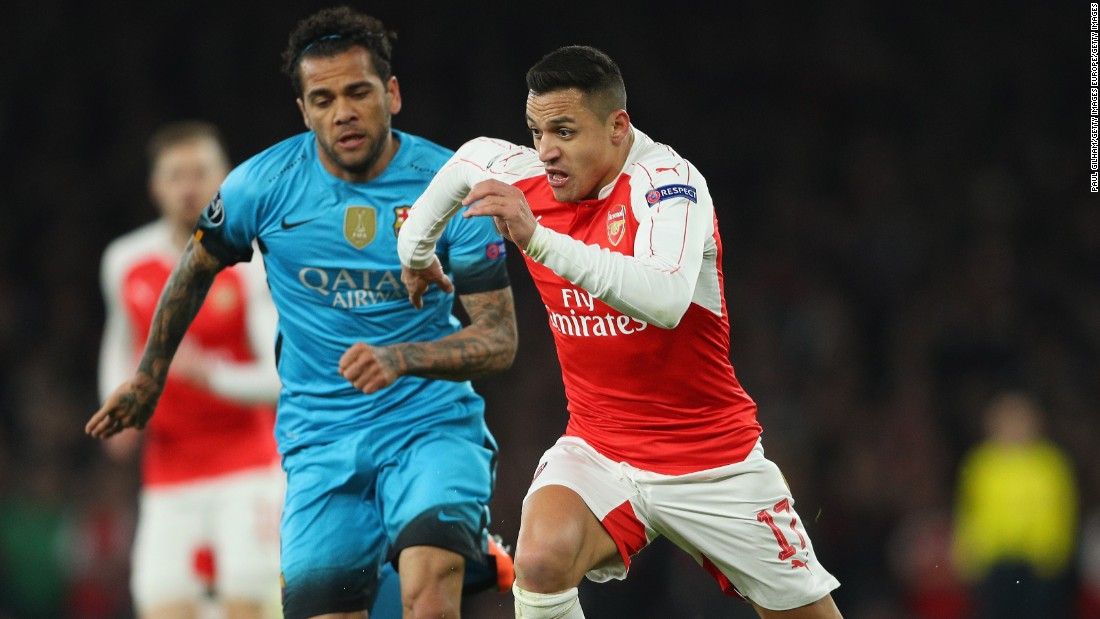 Alexis Sanchez, once of Barcelona, tried to get his side going as an attacking force but was left frustrated. Alex Oxlade-Chamberlain wasted Arsenal's best effort in the first half.