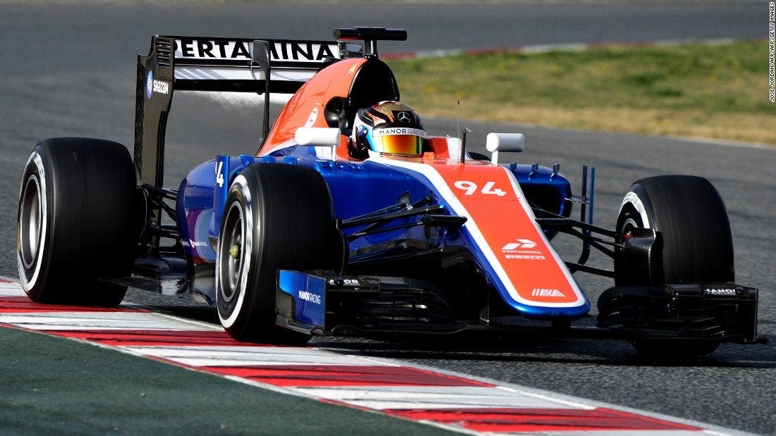 German driver Pascal Wehrlein gives the new Manor car, the MRT05, its track debut in Barcelona. Wehrlein, who is mentored by the Mercedes team, is hotly-tipped as one to watch as he makes his F1 bow this season.