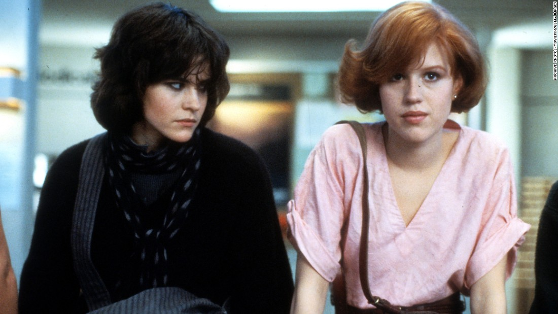 "<strong>""The Breakfast Club"" </strong>What '80s star wasn't in this film? Ally Sheedy, Molly Ringwald, Judd Nelson, Emilio Estevez and Anthony Michael Hall -- aka ""The Breakfast Club"" -- defined teen angst and cemented director John Hughes' reputation. The group begins a Saturday of detention as five people with little or nothing in common, except for some silly high school infraction, only to find at day's end that they're far more united than they thought.<br />"