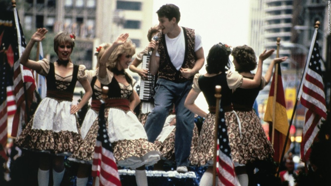 "<strong>""Ferris Bueller's Day Off"": </strong>One of the first films to feature a smart-alecky voice-over, ""Ferris Bueller's Day Off"" lifts the minor plot device of playing hooky -- and getting away with it -- to a whole new level. In the title role, Matthew Broderick outwits his school principal while convincing his best friend to take his father's prized 1961 Ferrari for a romp through Chicago that includes appearing on a parade float and lip-synching the Beatles' ""Twist and Shout."" <br />"