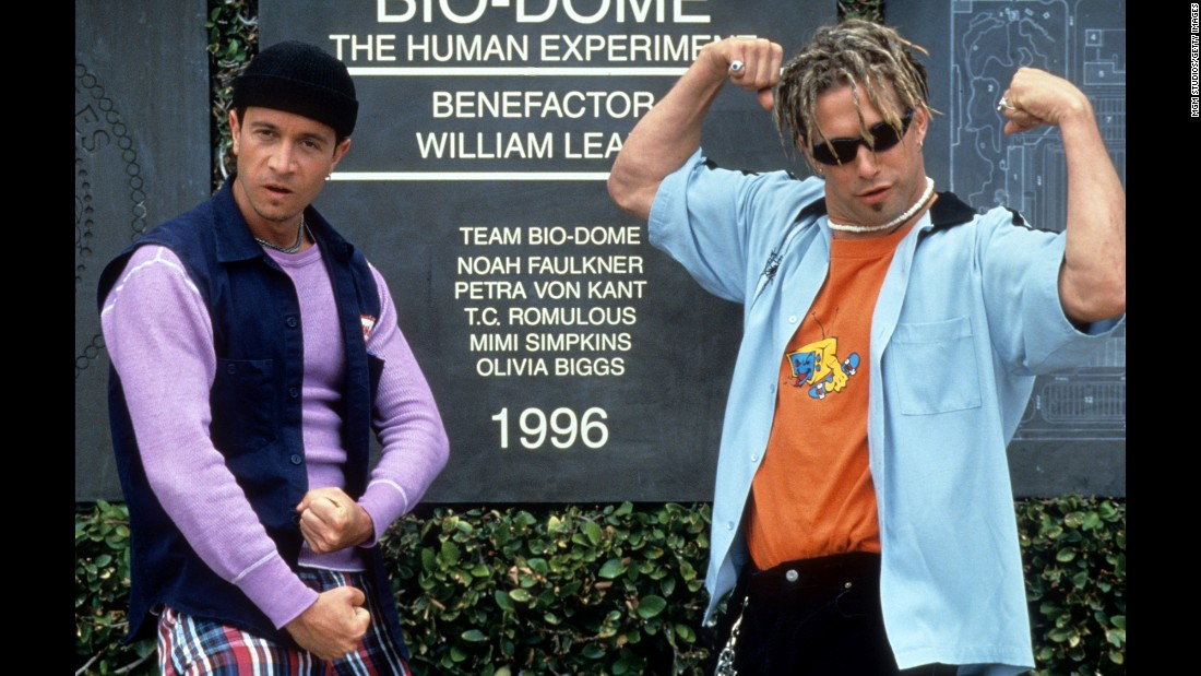 "<strong>""Bio-Dome""</strong>: Pauly Shore, left, and Stephen Baldwin play a couple of not-too-bright guys who mistakenly wander into a scientific facility in this slapstick comedy. <strong>(Hulu) </strong>"