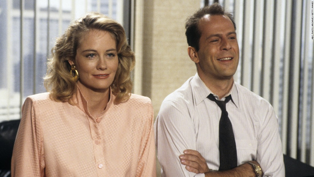 "<strong>'Moonlighting':</strong> This screwball comedy broke out of the regular TV comedy formula, experimenting with ideas like a musical episode or an episode shot in black and white. But the undeniable star of the show was the romantic chemistry created by lead actors Cybill Shepherd and Bruce Willis. They took the ""Sam and Diane"" element from ""Cheers"" and escalated it. With ""Cheers"" it was, ""Will they or won't they?"" In ""Moonlighting,"" it was, ""Do they even want to?"""