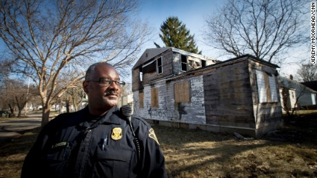 Officer Wordie Johnson has been with the Flint Police Department for 22 years.