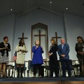Hillary Clinton and mothers who lost children to gun violence