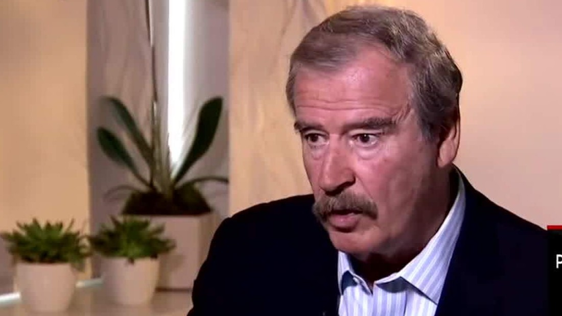 Ex-Mexican president Fox: 'I'm not going to pay for that f***ing wall'