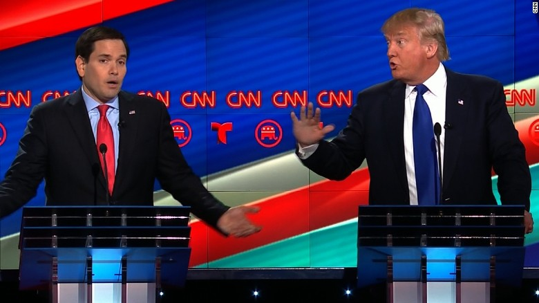 Donald Trump, Marco Rubio spar over healthcare