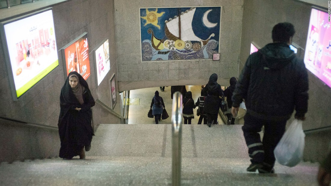 Tehran's subway system, like much of the city, is covered in art installations. The metro began operating in 1998 with three stations; there are now 70 stations throughout the city.