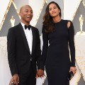 oscars red carpet 2016 Pharrell Williams and Helen Lasichanh