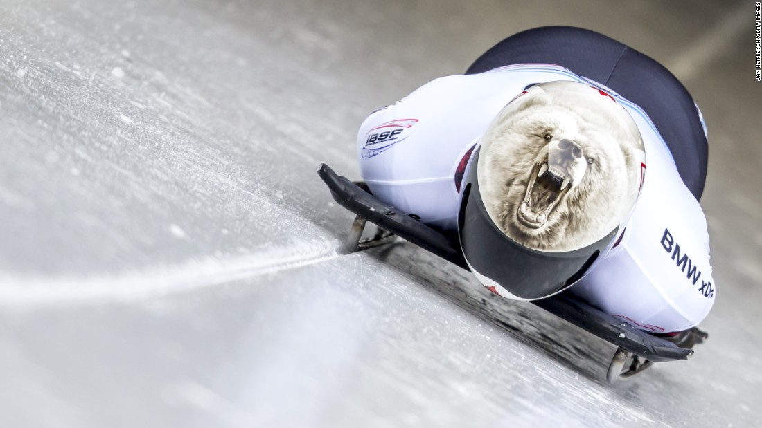 Barrett Martineau, a Canadian skeleton racer, begins his first run at the World Cup event in Konigssee, Germany, on Saturday, February 27.