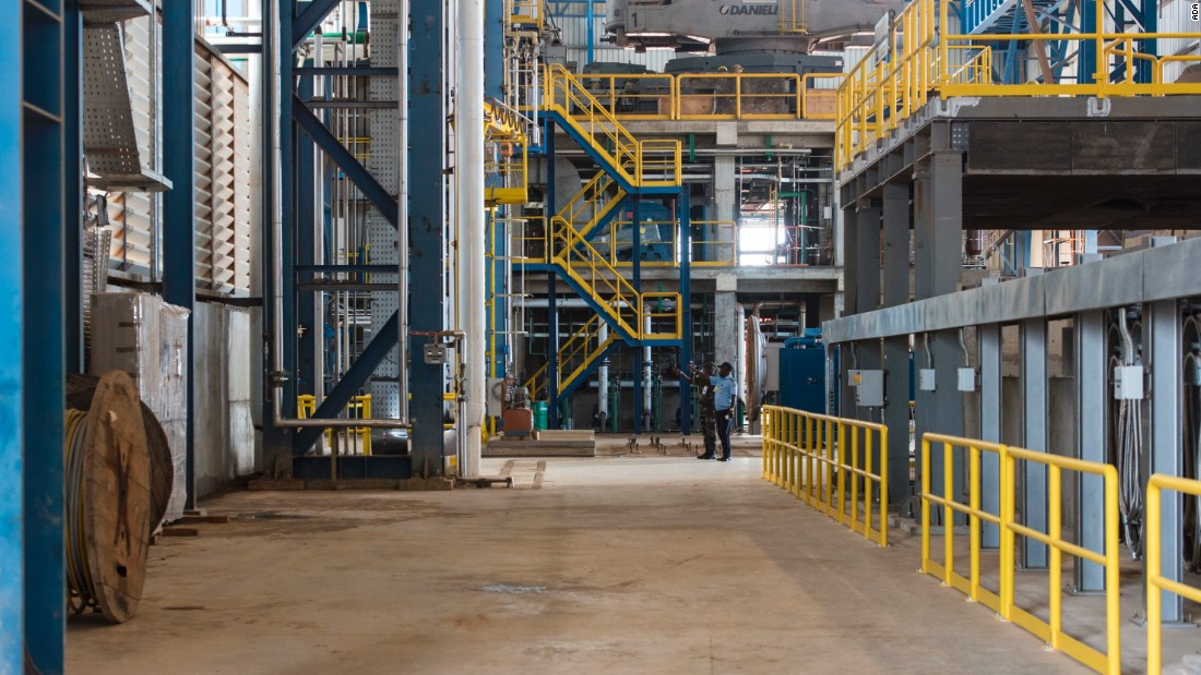 Inside the $300 million Aceria de Angola steel mill, north of the capital city Luanda. Angola's first steel mill will draw heavily on recycled war scrap.