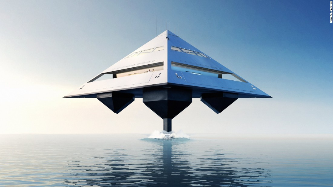 Is it a bird? Is it a plane? No, it's a boat. Or, more specifically, the Tetrahedron -- the new creation from designer Jonathan Schwinge, who's hell-bent on reinventing the superyacht.