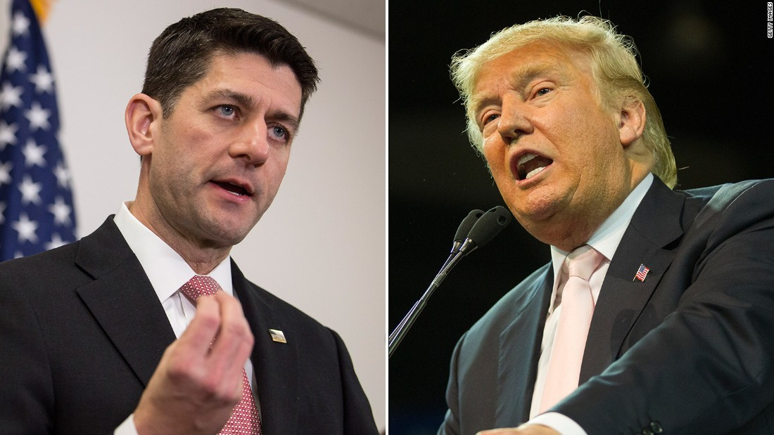 Trump trashes Ryan: 'I don't want his support'
