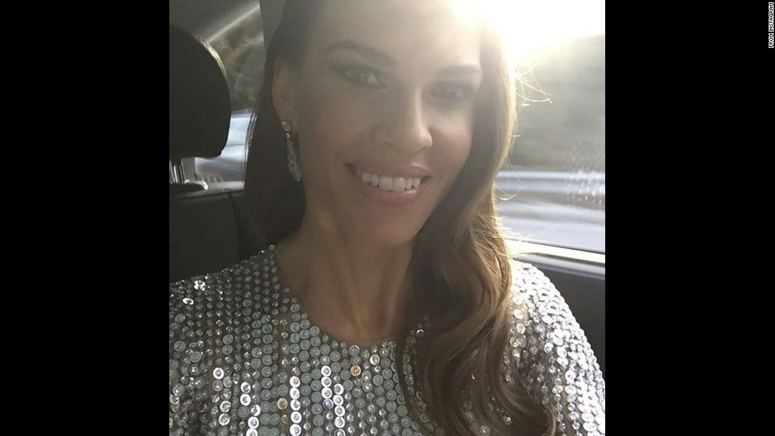 "Actress Hilary Swank had plans for the Oscars as well. ""Headed to the Elton John Viewing Party!"" <a href=""https://www.instagram.com/p/BCWdW9VJ7Ts/"" target=""_blank"">she said on Instagram.</a>"