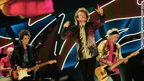 "The English rock band Rolling Stones kick off their ""America Latina Ole 2016"" tour at the National Stadium in Santiago, on February 3, 2016. / AFP / MARTIN BERNETTI        (Photo credit should read MARTIN BERNETTI/AFP/Getty Images)"