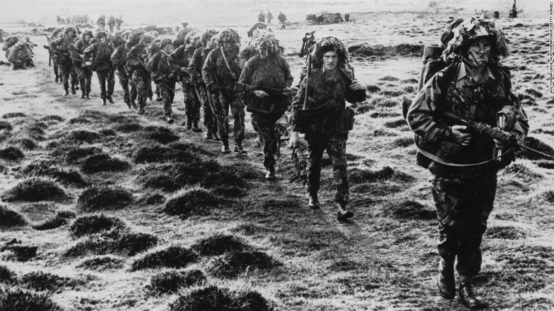"<strong>War in the Falklands:</strong> The 10-week Falklands War began in April 1982, when <a href=""http://www.theweek.co.uk/63055/how-did-the-falklands-war-start"" target=""_blank"">Argentina invaded </a>the Falkland Islands, a longtime UK colony. The UK sent a force to defend the islands, and <a href=""http://news.bbc.co.uk/2/shared/spl/hi/guides/457000/457033/html/"" target=""_blank"">hundreds of people</a> -- 655 Argentine and 255 British servicemen, as well as three Falkland Islanders -- lost their lives in the fighting that followed."
