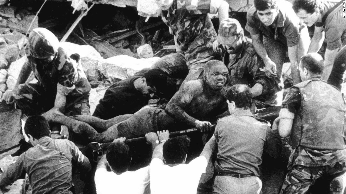 "<strong>Marine barracks bombed in Beirut:</strong> On October 23, 1983, 241 U.S. service members were killed in Beirut, Lebanon, by a terrorist driving a truck loaded with explosives. At the time, it was the <a href=""http://www.cnn.com/2013/06/13/world/meast/beirut-marine-barracks-bombing-fast-facts/"" target=""_blank"">deadliest attack</a> against U.S. Marines since Iwo Jima in 1945."