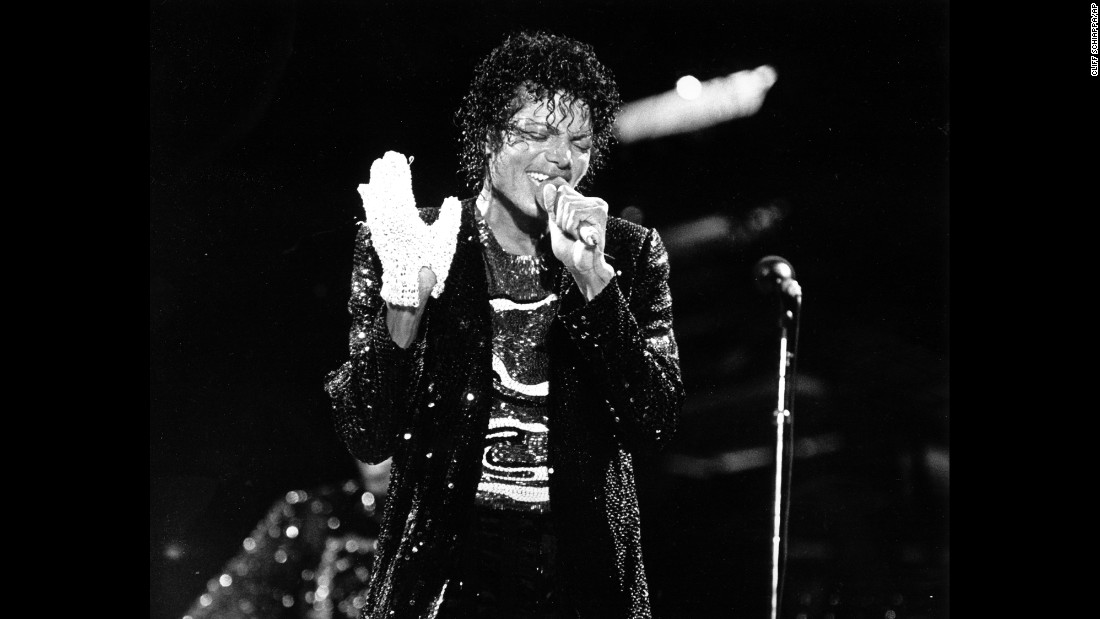 "<strong>Legendary style:</strong> Pop star Michael Jackson sports a single white glove during the first show on his Victory Tour on July 7, 1984. The now-iconic glove, described as ""the ultimate piece of Michael Jackson memorabilia,"" is a creation of designer Ted Shell and contains 50 tiny lights. It sold for <a href=""http://www.today.com/id/37949347/ns/today-today_entertainment/t/jacksons-victory-tour-glove-sells-k/#.VudtYZPbKNM"" target=""_blank"">$190,000</a> in 2010."