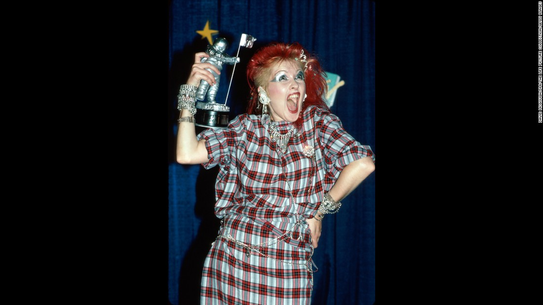 "<strong>Not your mom's awards show:</strong> The first MTV Music Awards, featuring Madonna's wedding gown-clad performance of ""Like a Virgin,"" took place on September 14, 1984. Michael Jackson and Herbie Hancock both took home several awards, and Cyndi Lauper, pictured, won <a href=""http://www.mtv.com/ontv/vma/1984/"" target=""_blank"">""Best Female Video""</a> for her song ""Girls Just Want to Have Fun."""