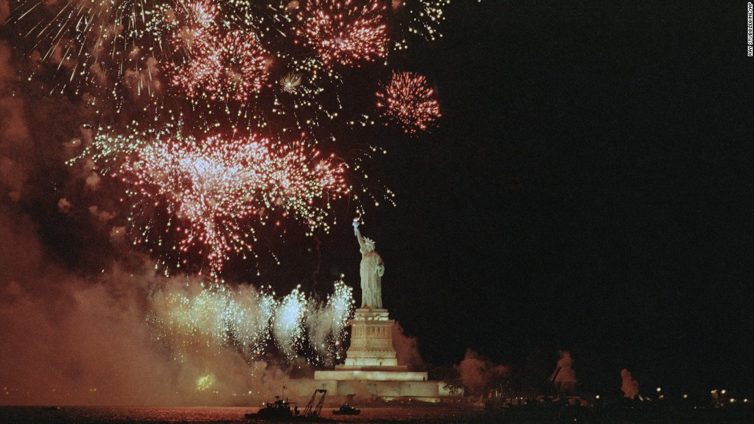 "<strong>Lady Liberty: </strong>Among historic milestones observed by the United States in the 1980s, few generated as much fanfare as the 100th anniversary of the <a href=""http://www.cnn.com/2013/07/03/us/statue-of-liberty-fast-facts/index.html"">Statue of Liberty's</a> arrival from France. The statue, a beacon for generations of immigrants since 1886, was meant to commemorate 100 years of Franco-American friendship as well as the centennial of America's independence from England."