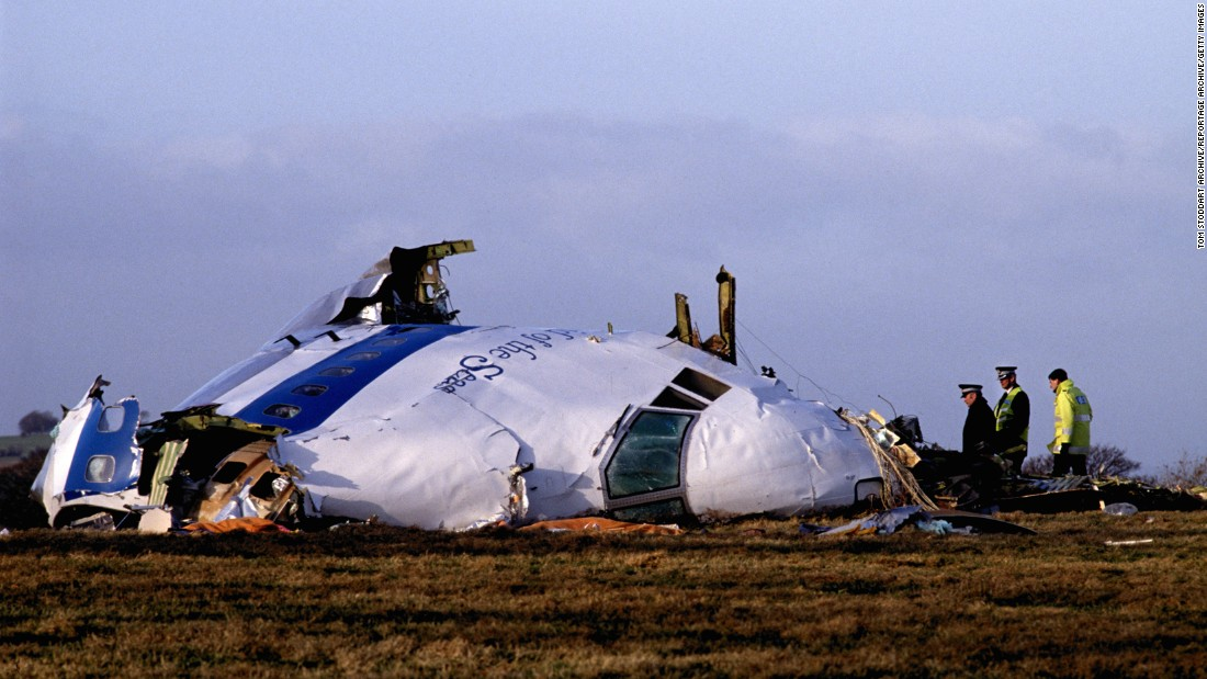 "<strong>Lockerbie disaster:</strong> While en route from London to New York, <a href=""http://www.cnn.com/2013/09/26/world/pan-am-flight-103-fast-facts/"" target=""_blank"">Pan Am Flight 103</a> exploded over Lockerbie, Scotland, on December 21, 1988. An investigation later found that the cause was a bomb planted in a suitcase by Libyan terrorists. All 259 people on board the plane were killed, as were an additional 11 people on the ground."