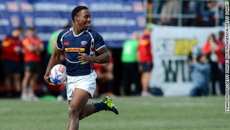 Sevens specialist Carlin Isles is one of U.S.A. Rugby's biggest stars - he can run 100m in 10.13 secs, which would have qualified for the semis at London 2012.
