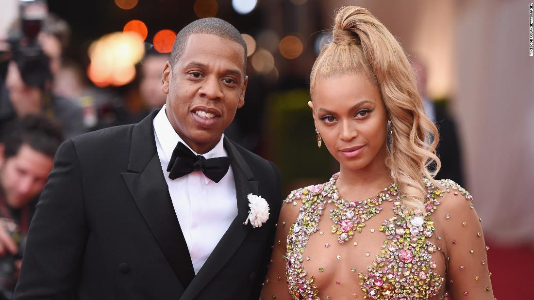Rapper Jay Z,46, with wife, singer Beyonce, 34.