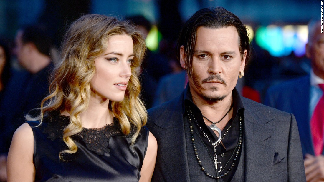 "Actor Johnny Depp, 53, married ""Zombieland"" actress Amber Heard, 30, in 2015."