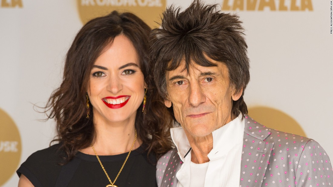 Musician Ronnie Wood, 69, and wife Sally Humphreys, 39, are expecting twins.