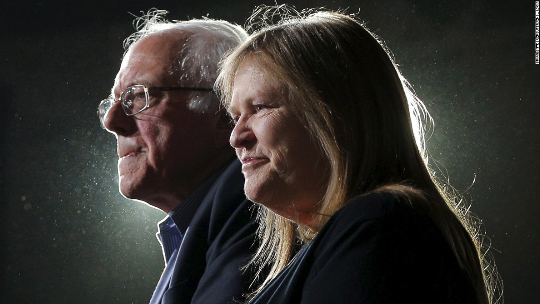 "U.S. Sen. Bernie Sanders is joined by his wife, Jane, at a rally in Burlington, Vermont, on Tuesday, March 1. Sanders won his state's Democratic primary on <a href=""http://www.cnn.com/2016/03/01/politics/super-tuesday-highlights/index.html"" target=""_blank"">Super Tuesday,</a> but the presidential candidate lost to Hillary Clinton in seven of the other 10 states."