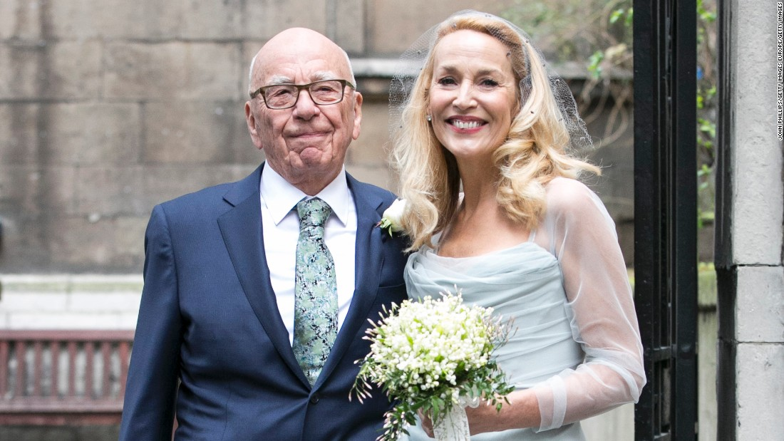 Global media mogul Rupert Murdoch married model Jerry Hall on Friday, March 4 in a ceremony attended by family and celebrity friends.