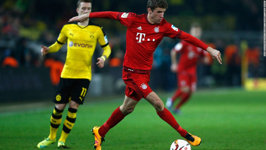 Thomas Mueller was quiet for Bayern all evening.