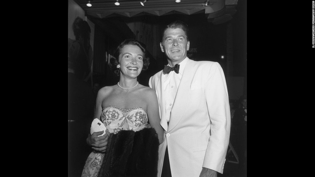 "Nancy Davis and Ronald Reagan appear at the premiere of ""A Streetcar Named Desire"" in Hollywood in 1951. The couple married the following year."
