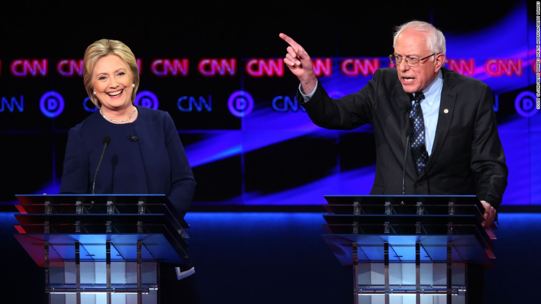 Clinton, Sanders talk over each other in debate clash