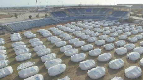 Thousands of refugees call abandoned Olympic Park home