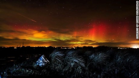 Stunning northern lights illuminate British skies