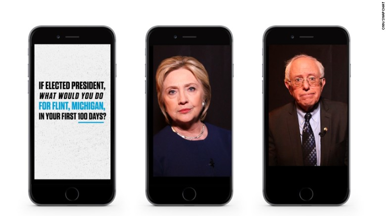 Clinton, Sanders address Flint water crisis on Snapchat