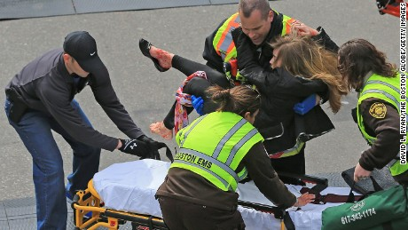 Victoria McGrath was injured by shrapnel in the Boston Marathon attack.